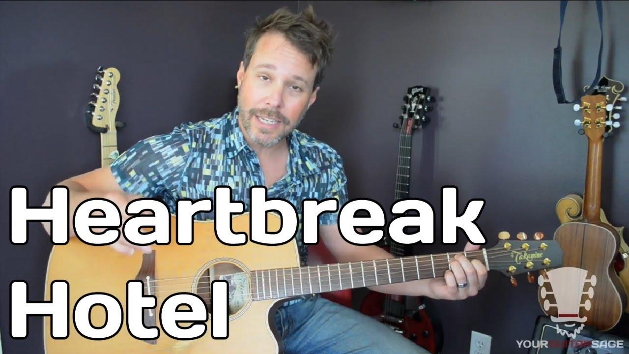 How To Play Heartbreak Hotel By Elvis Presley Guitar Lesson Youtube