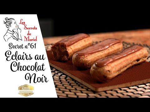 recette-des-eclairs-au-chocolat-noir-//-technique-de-glaçage-au-fondant