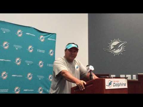 Miami Dolphins OC Clyde Christensen 6/6/17