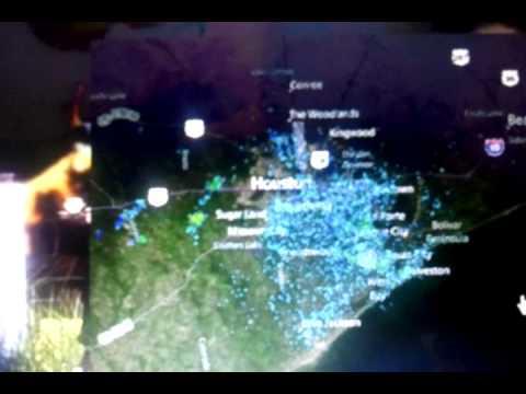 Weather HAARP over Houston, Texas in action