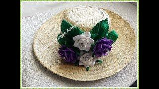 Chapéu Decorado com Rosas em Eva