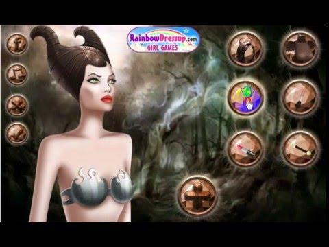Малефисента. Магический макияж Малефисенты. Игры макияж и маникюр. Игры одевалки. Игры для девочек