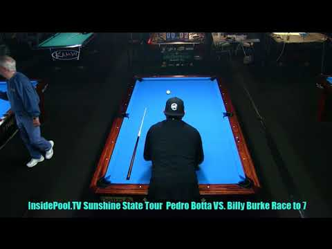 Sunshine State Tour 2018 Pedro Botta VS Billy Burke at Park Ave Billiards 9 Ball Race to 7