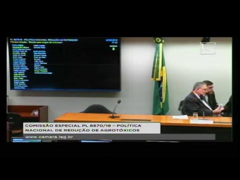 PL 6670/16 - POLÍTICA NACIONAL REDUÇÃO AGROTÓXICOS - Reunião de Instalação e... - 22/05/2018 - 16:56