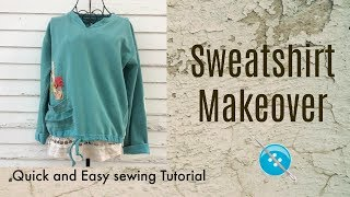Quick and Easy Sweatshirt Makeover thumbnail