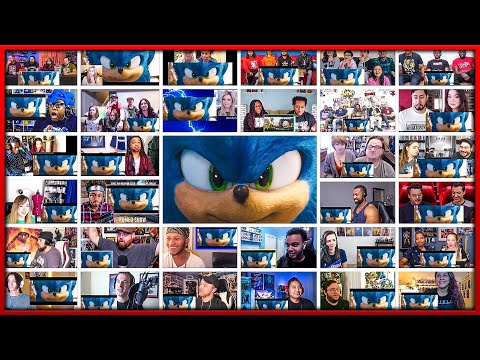 Sonic the Hedgehog Trailer 2 Mega Reactions Mashup