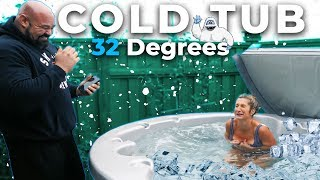 MAKING MY WIFE GET IN THE COLD TUB | 32*F