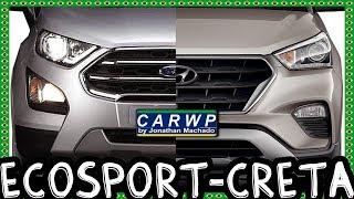 JOGO RÁPIDO Ford EcoSport Titanium 1.5 AT6 FWD 2020 vs Hyundai Creta Prestige 2.0 AT6 FWD 2019 SUV