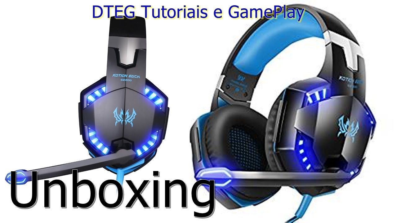 Unboxing Headset Gamer Kotion Each G2000 Blue Pt Br Youtube