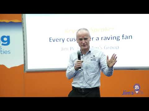Franchising Expo Melbourne 2019 Jim Penman CEO and Founder of Jim's Group Talk