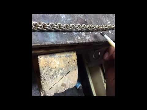 Jewelry Making of chino link //Cadena tejido chino.