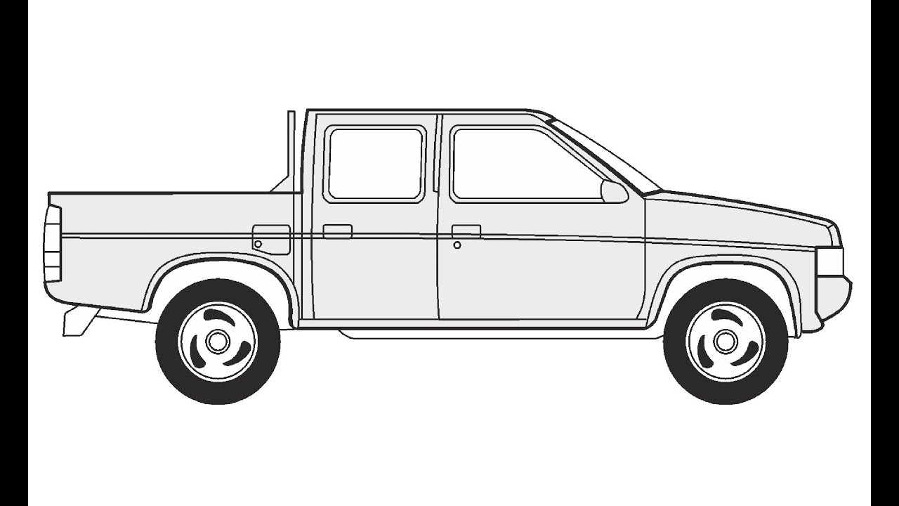 Ford Pickup: How To Draw A Ford Pickup Truck