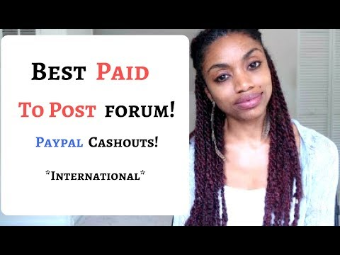 Get Paid To Post Forum - Cashout With PayPal! (Extra Cash Opportunity)