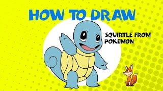 How to draw squirtle from pokemon - Learn to Draw - ART LESSONS