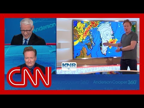 Conan's Greenland weather report cracks up Anderson Cooper
