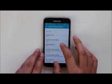 Samsung klavye ayarları