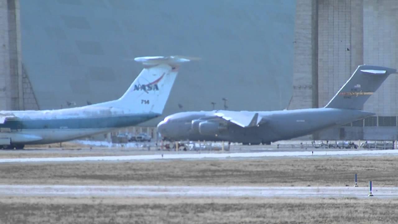 Head On Green Lockheed  C-141B Starlifter Military Transport Plane Old Photo
