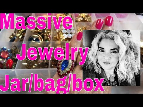 Massive Jewelry Haul Jars Bags Or A Box Collectible Designer Rare Finds