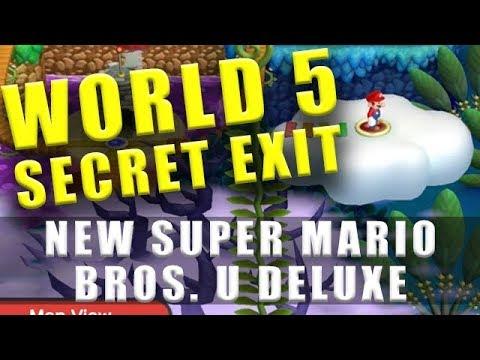 World 5 Secret Exit New Super Mario Bros U Deluxe Soda Jungle