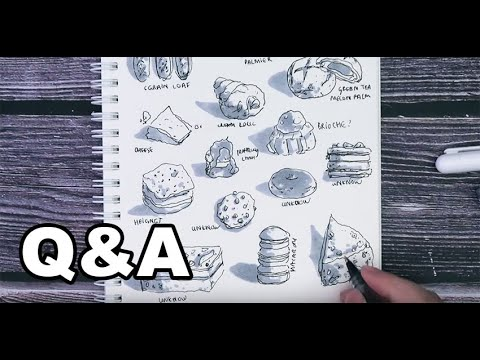 [ SKETCH NHANH ] Q&A   Cách luyện dáng người   Vẽ nhanh và tám cùng Lỗ