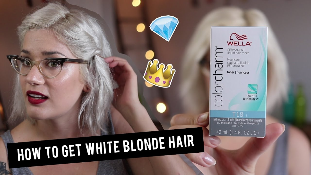 How To Get White Blonde Hair With Wella T18 Toner Btwsam Youtube