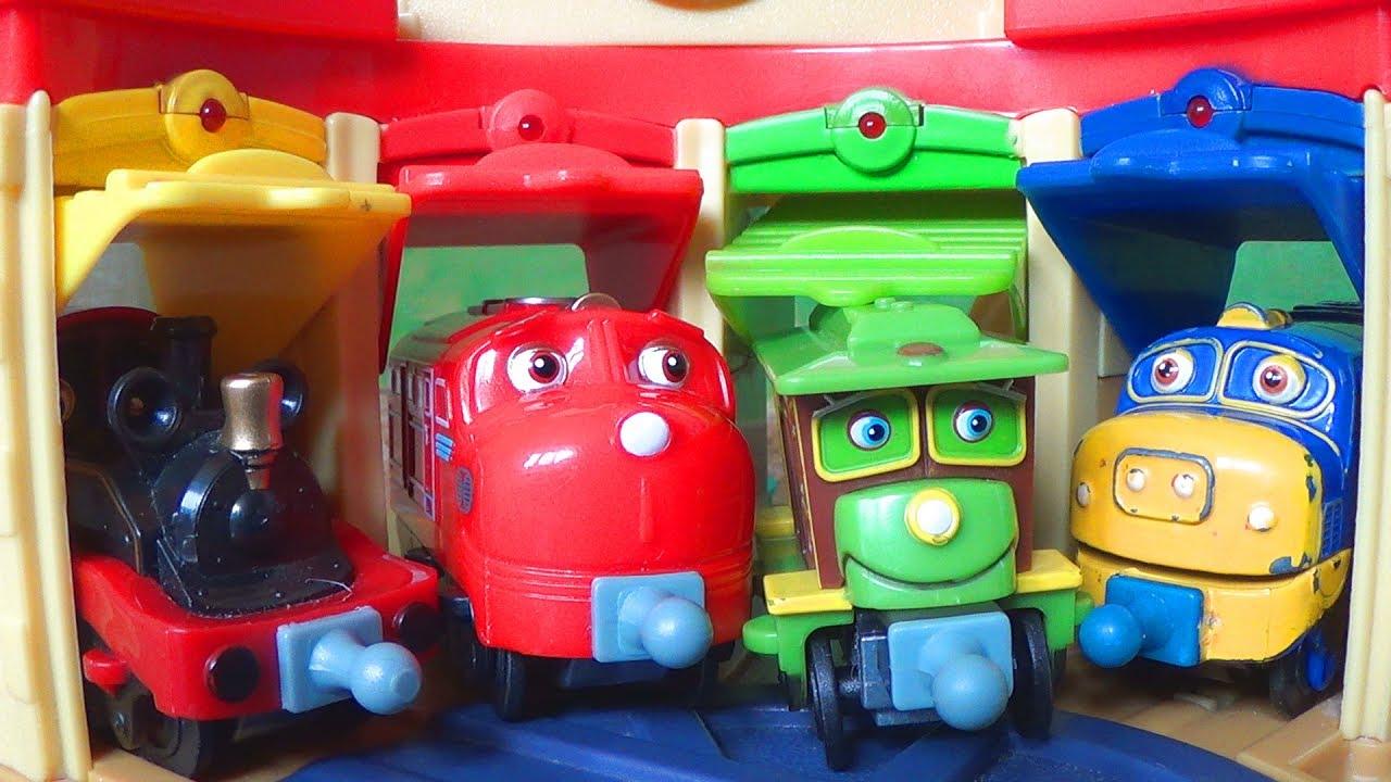 Паровозики из Чаггингтона - Железная дорога - Депо - Видео про поезда для детей