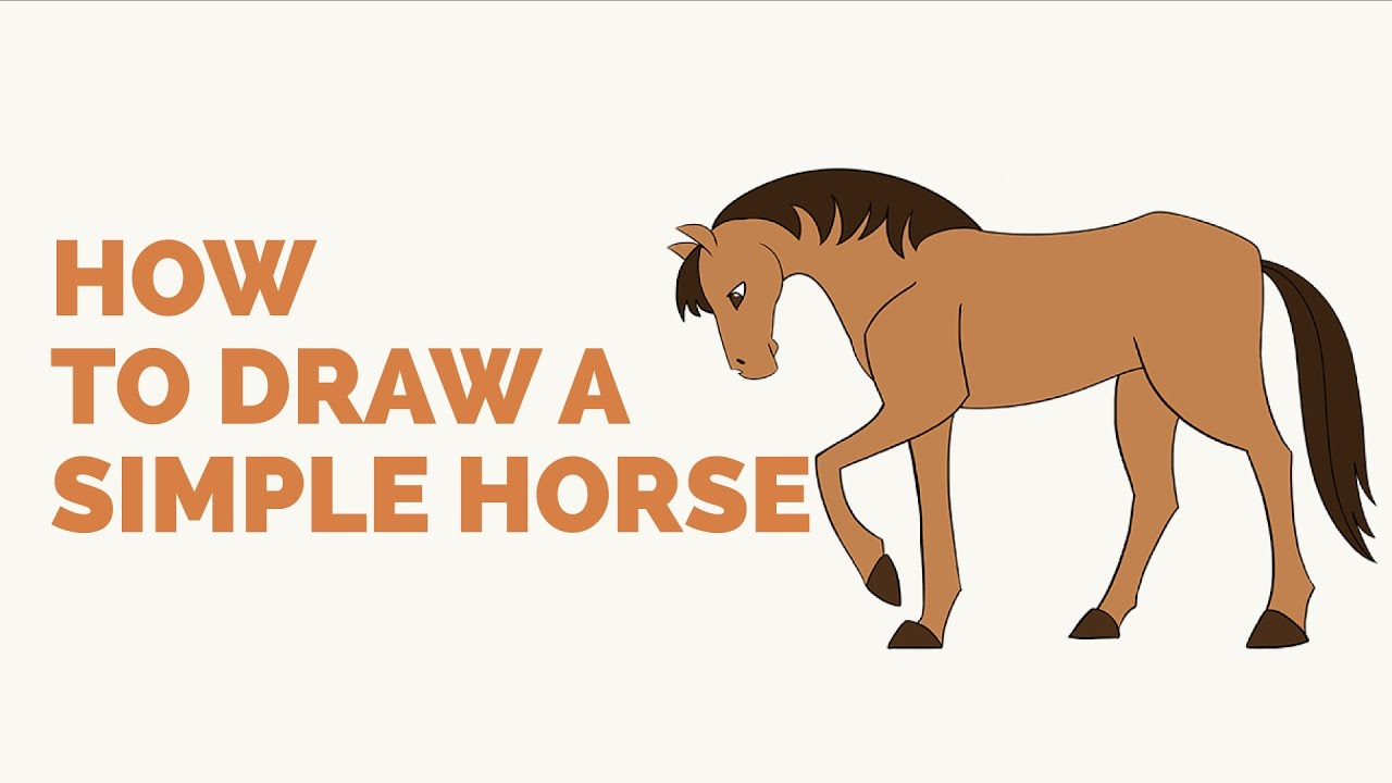 How To Draw A Simple Horse  Easy Stepbystep Drawing Tutorial
