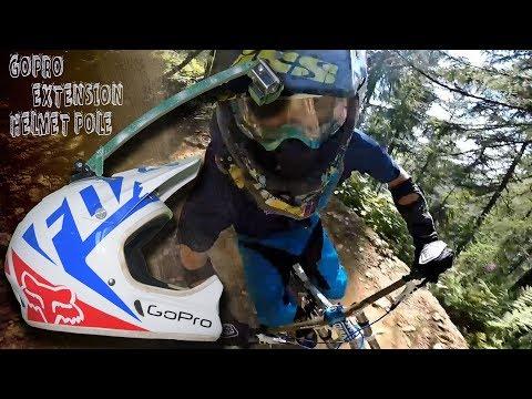 GoPro Helmet mount || Homemade Extension arm Pole || Downhill ride test 🚲|| Madesimo Bikepark🏔