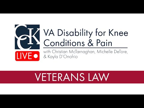 VA Disability for Knee Conditions & Pain