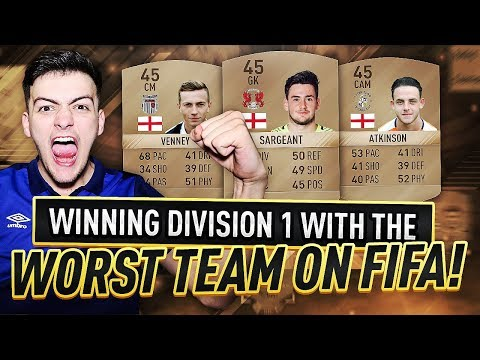 WINNING DIVISION 1 WITH THE WORST TEAM ON FIFA 17!!
