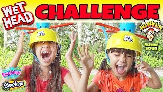 WET HEAD CHALLENGE Water Roulette Game - Giant Egg Surprise Toys - Extreme Sour Warheads