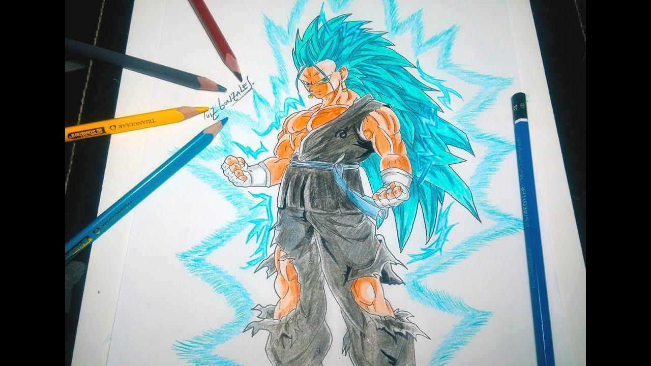 dibujando a vegeto ssj 3 dios azul drawing vegeto ssj 3