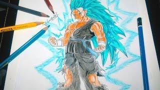 DIBUJANDO A VEGETO SSJ 3 DIOS AZUL - Drawing Vegeto SSJ 3 God Blue