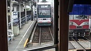 【前面展望】名鉄美濃町線・田神線 赤土坂→市ノ坪 モ510形貸切列車