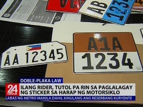LTO eyes decals for front license plates under Doble Plaka