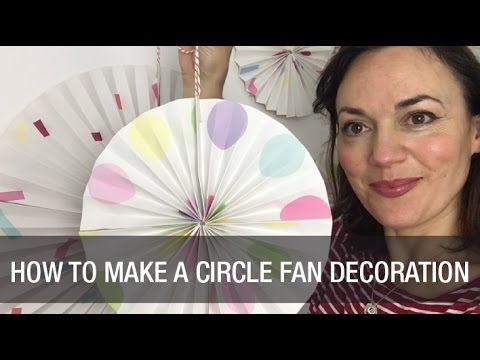 How to Make a Paper Circle Fan