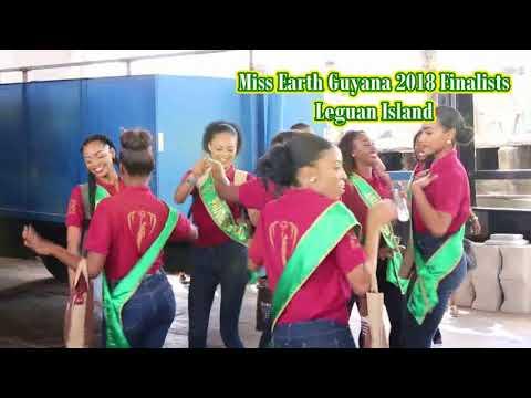 Miss Earth Guyana 2018 Finalists in Leguan