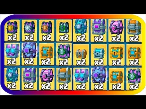 OPENING 2 OF EVERY CHEST IN CLASH ROYALE! ALL CHEST OPENING WITH LEGENDARIES