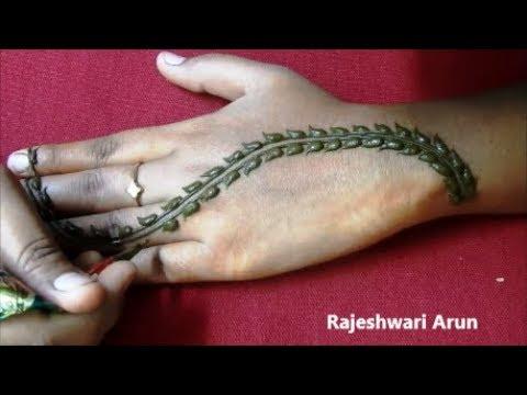 Most Beautiful Henna Mehndi Design For Back Hands * Simple Latest Mehndi Designs * New Easy Mehndi
