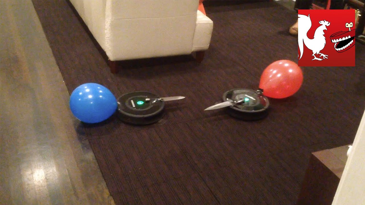 Happy Hour 1 Roomba Death Match Rooster Teeth Youtube