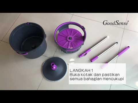 GoodSense Clean Water Spin Mop - Video Tutorial (Bahasa Melayu)