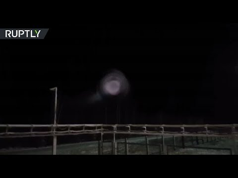 RAW: Mysterious giant ball of light stuns people in Siberia