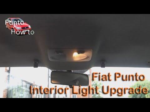 Fiat Punto Interior Light Upgrade - YouTube
