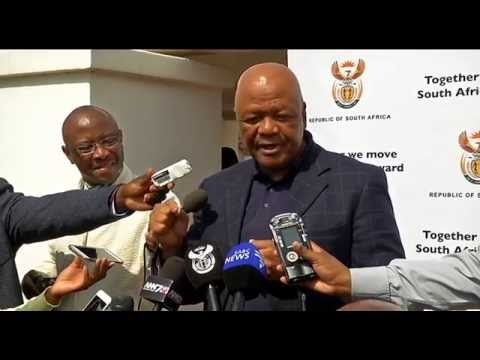 Minister Jeff Radebe briefs Media on Cabinet Lekgotla, Presidential Guest House, Pretoria