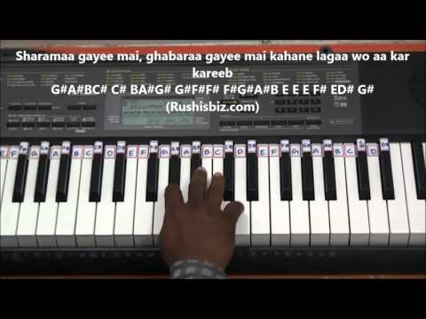 Mere Naseeb Mein (Piano Tutorial) - Naseeb Movie