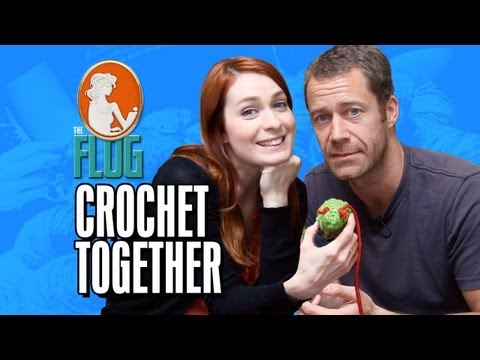 Felicia Day and Colin Ferguson Crochet Together!  The Flog Ep 7