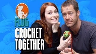 Felicia Day and Colin Ferguson Crochet Together! - The Flog Ep 7