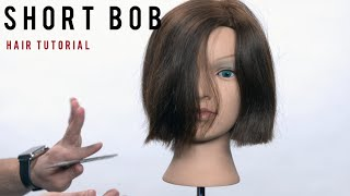 How to Cut a Bob Haircut On Dry Hair - TheSalonGuy
