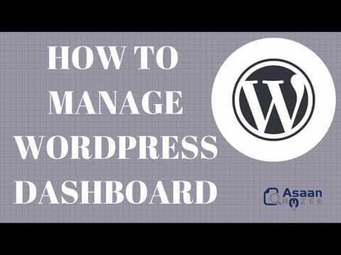Wordpress Dashboard - Wordpress Dashboard Tutorial - Dashboard & Settings thumbnail