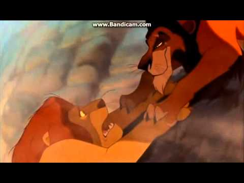 The Lion King-Mufasa and Scar scene (Mufasa death)